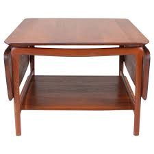 Drop Leaf Coffee Table Solid Teak Drop Leaf Coffee Table By Hvidt For Stuart