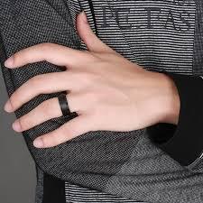 cool finger rings images Matt black tungsten wedding band jpg