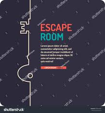 illustration key reallife room escape quest stock vector 608592482