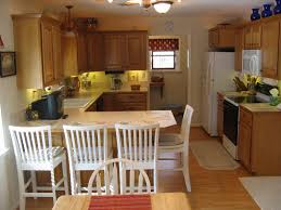 kitchen galley kitchen with breakfast bar table linens water
