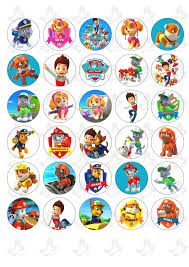 edible photo paw patrol 30 x edible cupcake toppers edible image products