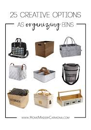 Home Storage Options by 25 Creative Options As Organizing Bins Home Made By Carmona