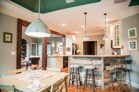 decorating with barn board kitchen eclectic with painted ceiling