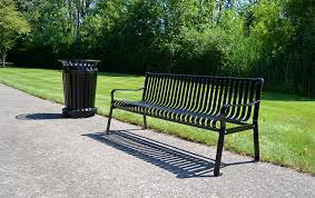 Steel Outdoor Bench Commercial Steel Outdoor Bench With Straight Back