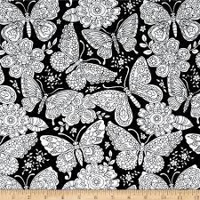 Paisley Home Decor Fabric by Michael Miller Color Me Papillon Paisley Black Discount Designer