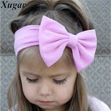 newborn hair bows lovely cotton headband solid hair bows headbands for