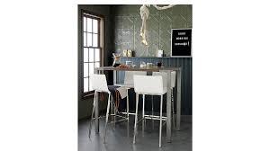 tall dining room tables stilt 42 tall wood dining table cb2