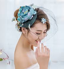 aliexpress com buy 15cm fabric flower big veil fascinator top
