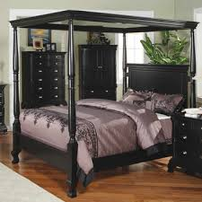 queen canopy bed madison queen canopy bed in black by winners only home gallery