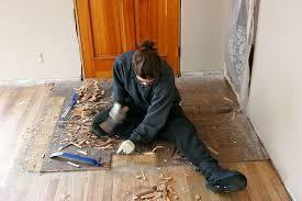 removing parquet flooring