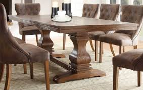 eclectic dining room design with rustic wood dining table black