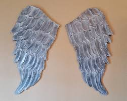 Angel Wings Home Decor by Angel Wing Wall Art Carved Wood Look Lucy Designs