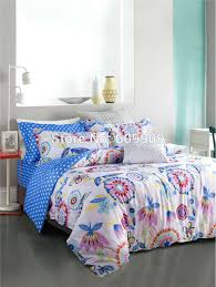 Teen Floral Bedding Buy Mustache Bedding Teen Girls Gentleman Funny Cute Blue White