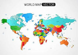 map of the countries vector map files for free