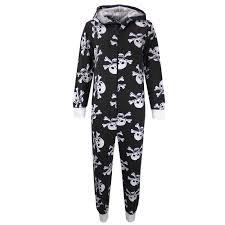 kids girls boys skull u0026amp cross bone onesie all in one halloween