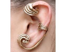 ear wraps mermaid ear wrap silver mermaid ear cuff wave ear cuff wave