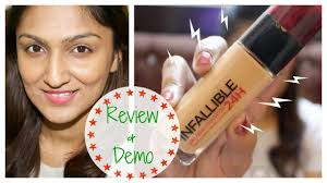l oreal infallible 24h foundation review demo
