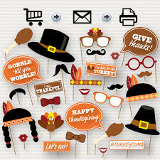 thanksgiving photo booth thanksgiving party printable photo booth props glasses