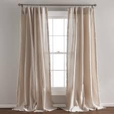 Window Curtain Decor Tassel Window Curtain Set Lush Decor Www Lushdecor