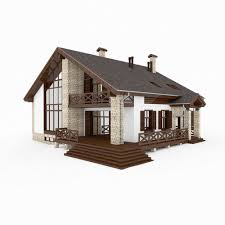 chalet houses chalet and alpine houses 8 in 1 collection 3d model max obj 3ds