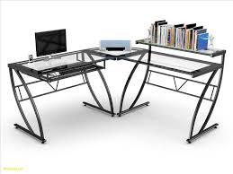 Glass L Shaped Computer Desk Z Line Belaire Glass L Shaped Computer Desk Ideas For Decorating