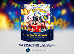 kids birthday party flyer template by ranvx54 on deviantart