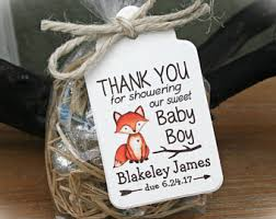 baby shower keepsakes for guests fox baby shower etsy