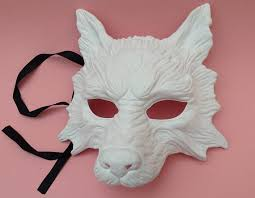 wolf masquerade mask diy white wolf masquerade mask quality resin base easy to paint