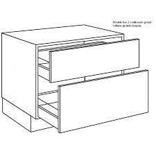 meuble bas 120 cm cuisine casserolier de cuisine 2 coulissants grand volume largeur 120cm