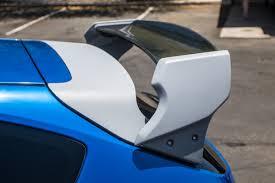 subaru wrx hatchback spoiler subaru sti wrx hatchback only 08 14 carbon fiber rally wing