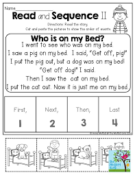 read and sequence short stories to help children practice