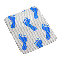 Anti Slip Mat For Bathtub Pvc Foam Bath Mat With Blue Foot Sunwing Biggest Anti Slip Mats