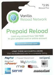 reload prepaid card 50 vanilla prepaid reload card load to paypal new free shipping