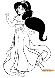 princess jasmine coloring pages print epocanyc