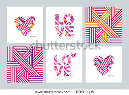 Designs Of Making Greeting Cards For Valentines Set Greeting Cards Valentines Day Mothers Stock Vector 373589335