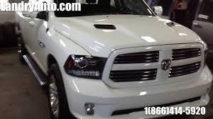 Dodge Ram Sport - white 2014 ram 1500 sport quad cab blanc youtube
