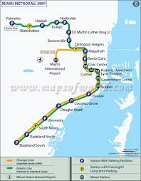 Map Of Fort Lauderdale Florida by Miami Metro Map Metrorail
