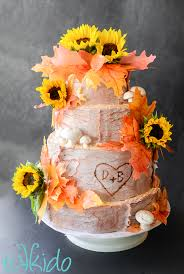 wedding cake rustic rustic fall wedding cake tikkido