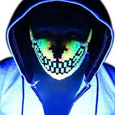 bead mask glow in the rainbow wolf kandi mask by kandi gear mask