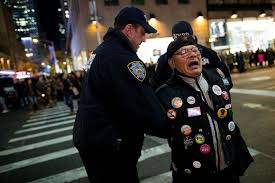 desk appearance ticket nyc nearly 1 000 anti trump demonstrators march 11 arrested in third