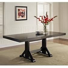 Black Wood Dining Table Walker Edison Furniture Company Millwright 6 Black Dining