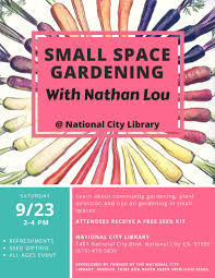 small space gardening community gardening calendar of events