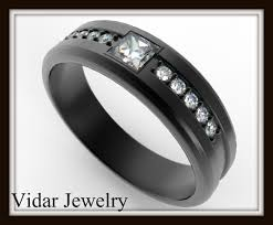 black gold mens wedding band black gold wedding band for men vidar jewelry unique custom