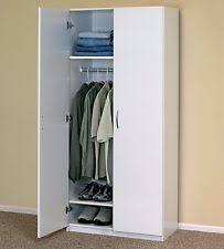wardrobe storage cabinet white closetmaid 30 in 2 door wardrobe cabinet clothes closet white