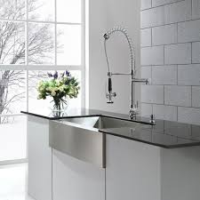 pre rinse kitchen faucet kraus commercial style single handle kitchen faucet with pull
