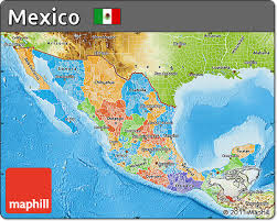 political map of mexico free political map of mexico physical outside