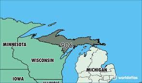 michigan area code map where is area code 906 map of area code 906 marquette mi area