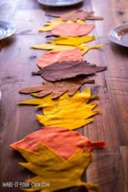 Leaf Table Runner Diy Thanksgiving Placemats And Table Runners Create Whimsy