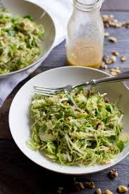 shaved brussels sprout salad with apples and walnuts wholefully