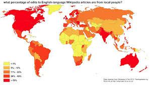 Language Map Of America floatingsheep what percentage of edits to english language